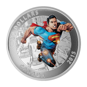 1 oz Silbermünze - klassisches Superman™ Comic Titelbild | Action Comics #1