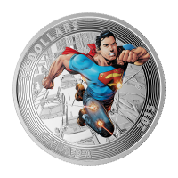 1 oz 2015 Iconic Superman� Comic Book Covers | アクションコミック #1 銀貨
