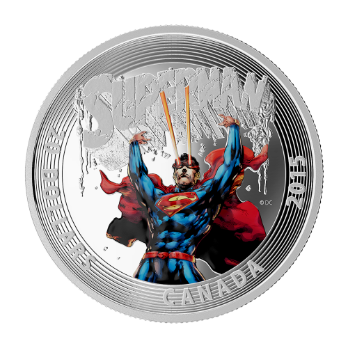 1 oz 2015 Ikoniske Supermann™ Tegneserieforsider | Supermann™ #28 sølvmynt