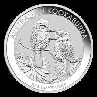 1 oz Silbermünze - australischer Kookaburra - 2013