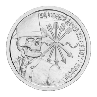 1 oz 2012 Debt and Death Sølv Spesial BU Proof Round | Chris Duane Personlige Samling