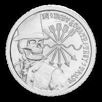 1 oz Silbermedaille 2012 Sonderausgabe Stempelglanz polierte Platte - Schulden und Tod | Privatsammlung Chris Duane
