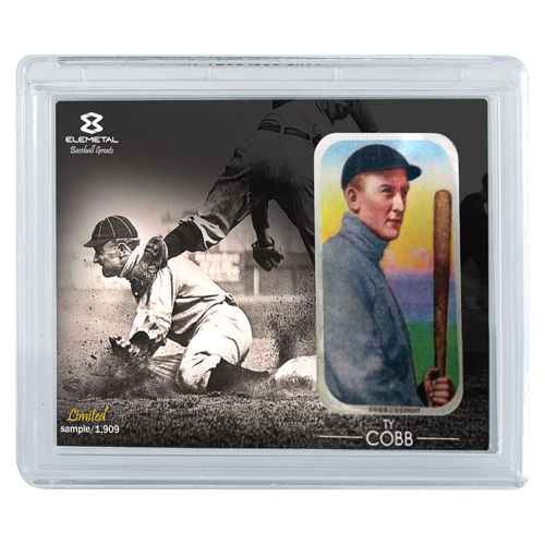 1 oz Ty Cobb Elemetal T-206 Baseball Greats Series Silver Bar