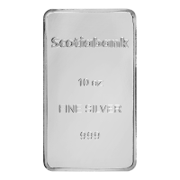 10oz Scotiabank Silver Bar