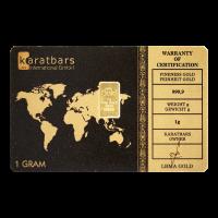 Lingot d'or Karatbars de 1 gramme
