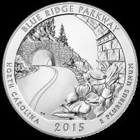 5 oz Silbermünze - Wunderschönes Amerika | Blue Ridge Parkway - 2015