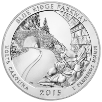 5 oz Silbermünze - Wunderschönes Amerika   Blue Ridge Parkway - 2015