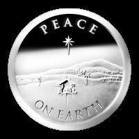 1 oz Silbermedaille - Frieden auf Erden | Chris Duane Privatsammlung - 2013 Zustand: Spiegelglanz