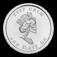 1 oz Silbermedaille - Sklavenkönigin breiter Rand | Chris Duane Privatsammlung - 2013