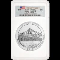 5 oz Silbermünze - Wunderschönes Amerika | Mount Hood PCGS MS-68 (PL) - 2010