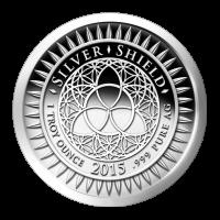 1 oz Silbermedaille aus einer Fehlprägung - Silvester - 2014 Zustand: Spiegelglanz