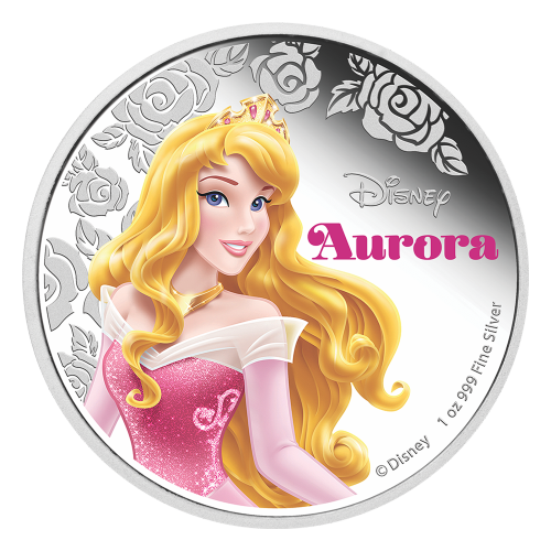 1 oz 2015 Disney Princess Aurora Silver Coin