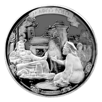 2 oz Silbermünze - Marco Polo Entdeckungsreisen - limitiert 2015