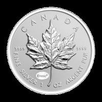1 oz kanadische Silbermünze - Ahornblatt - Rückseite E=mc2 Sonderprägung 2015 limitiert