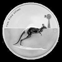1 oz Silbermünze - Känguru - 2012 F15 Sonderprägezeichen