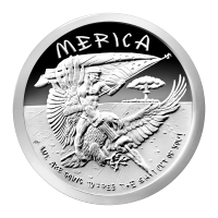 1 oz 2015 Merica Silver Proof-Like Round