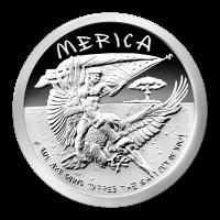 1 oz Silbermedaille - Merica - 2015 Zustand: Spiegelglanz