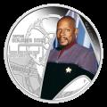 Moneda de plata Proof plata del Capitán Benjamin Sisko de Star Trek 2015 de 1 Oz.
