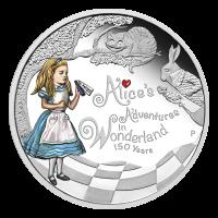 1 oz Silbermünze - 150. Alice im Wunderland Abendteuer Jahrestag - limitiert 2015