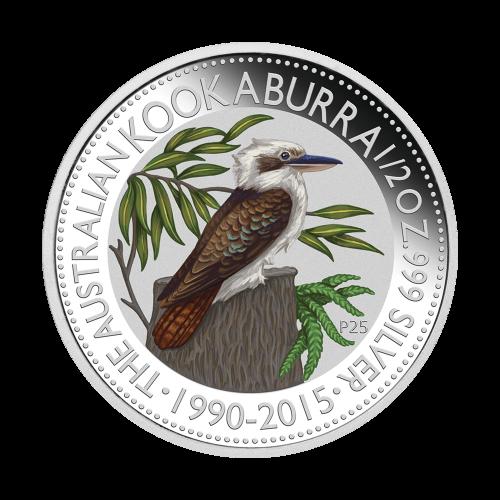 Ensemble de trois pièces d'argent colorées Belle epreuve (numismatique) Outback Australien 2015 de 1/2 once