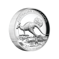 1 oz 2015 Australian Kangaroo High Relief Silver Proof Coin
