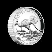 1 oz Silbermünze - australisches Känguru - Hochrelief - 2015 limitiert