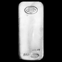 100 oz Asahi Zilveren Baar