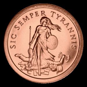 1 oz 2014 Sic Semper Tyrannis Copper Round