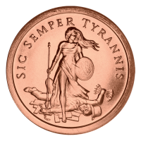 1oz 2014 Sic Semper Tyrannis Copper Round