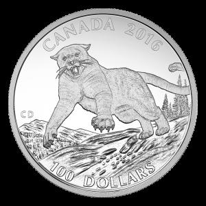 1盎司2016年100元等额美洲狮银币