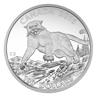 1 oz 2016 $100 for $100 Cougar Silver Coin