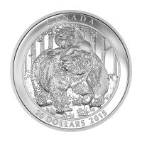 1 oz Srebrna Moneta Proof 2015 Grizzly Bear: Togetherness