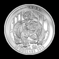 1 oz Silbermünze - Grizzlybär: Zweisamkeit - 2015 limitiert