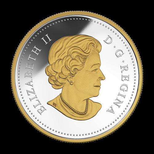 """Nachahmung des Frühlingseises (Spring Ice) von Tom Thomson (1916) und die Worte """"Canada 2015 20 Dollars""""."""