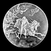 2 oz Silbermünze - biblische Serie | Das fahle Pferd - 2015