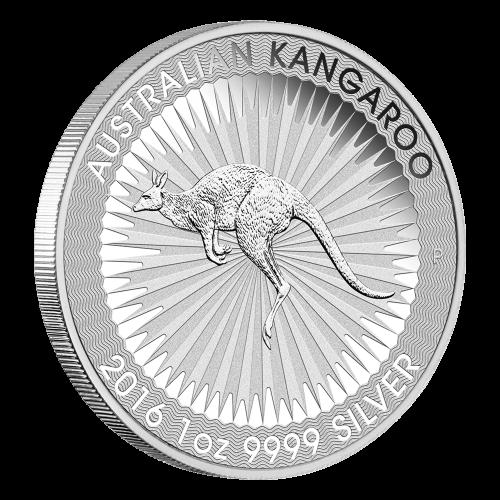 1 oz Silbermünze - australisches Känguru - 2016
