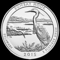 5 oz 2015 Wunderschönes Amerika   Bombay-Hook-Naturschutzgebiet Silbermünze