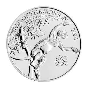 1 oz 2016 The Royal Mint Silver Lunar Year of the Monkey Coin