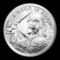 1 oz Silbermedaille - ein Held wurde geboren - Silver Shield 2015