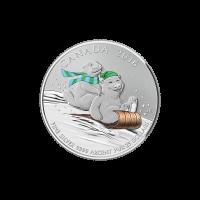 1/4 oz Silbermünze - $25 für $25 Winterspaß - 2016