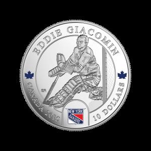 1/2 oz 2015 Goalies | Eddie Giacomin Silver Proof Coin