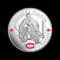 1/2 oz Silbermünze - Torwarte | Jacques Plante - 2015 limitiert