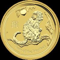 1 oz Goldmünze - Jahr des Affen - Perth Prägeanstalt 2016