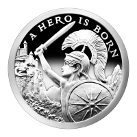 מטבע כסף Silver Shield A Hero is Born במצב כ-Proof שנת 2015 משקל אונקיה