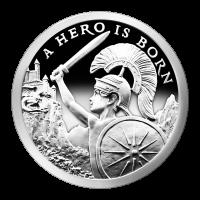 1 oz Silbermedaille Silver Shield - ein Held wurde geboren - 2015 Zustand: Spiegelglanz