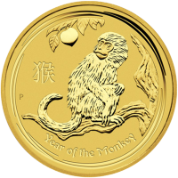 2 oz Goldmünze - Jahr des Affen - Perth Prägeanstalt - 2016