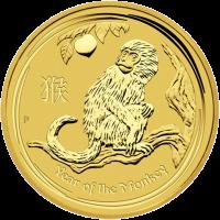 2 oz Goldmünze Jahr des Affen Perth Prägeanstalt Mondserie 2016