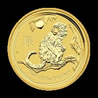 1/2 oz Goldmünze - Jahr des Affen - Perth Prägeanstalt 2016