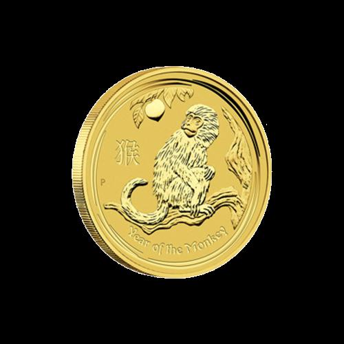 1/4 oz Goldmünze - Jahr des Affen - Perth Prägeanstalt 2016