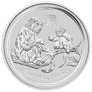 10 oz 2016 Perth Mint Lunar Year of the Monkey Silver Coin